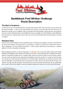 Fred Whitton Challenge Route Description